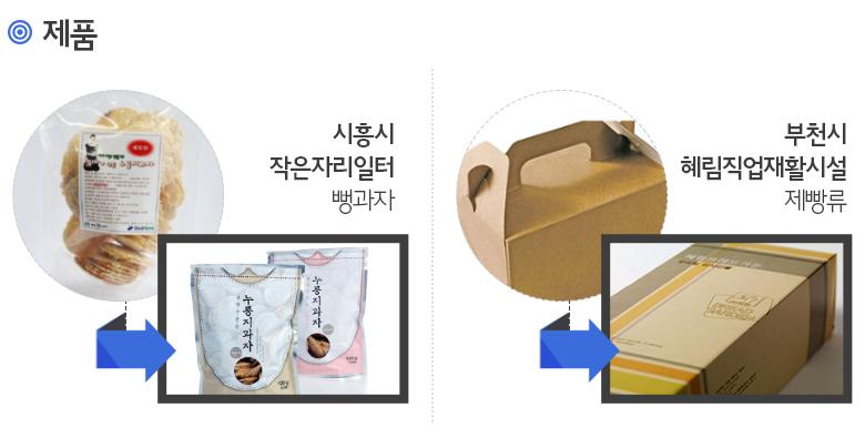 제품: 시흥시 작은자리일터 뻥과자 - 부천시 헤림직업재활시설 제빵류